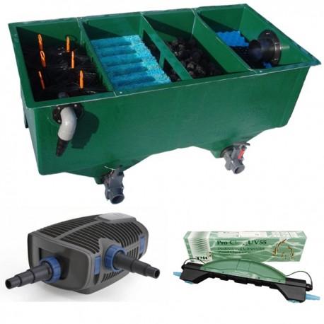 kit de filtration n 5 pour bassin de maximum 16000 litres. Black Bedroom Furniture Sets. Home Design Ideas