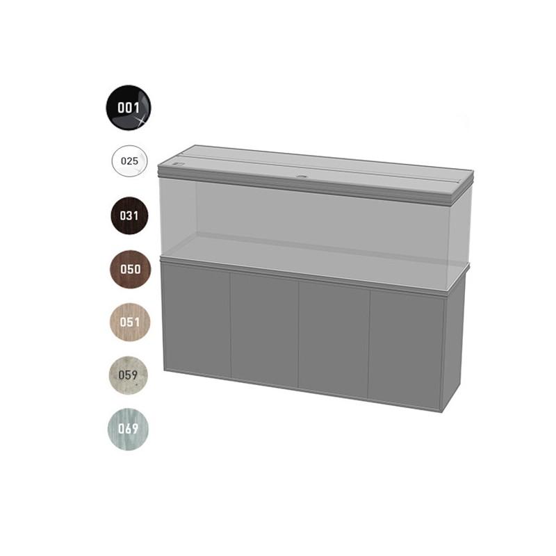 Aquatlantis meuble fusion 200x60x83cm portes bois 40mm for Meuble poisson