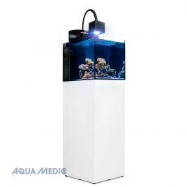 Aqua Medic aquarium Blenny Qube avec meuble blanc