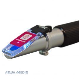 Aqua Medic Réfractomètre à température compensée avec échelle éclairée par LED pour la détermination de la quantité de sel