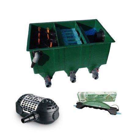 kit de filtration n 3 pour bassin de maximum 12000 litres. Black Bedroom Furniture Sets. Home Design Ideas