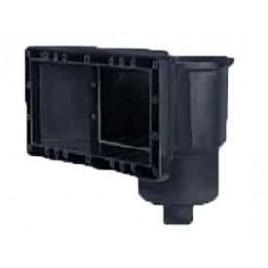 Skimmer de paroie large entrée noir (pour bâche ou préfab.)aspiration: 305x135mm