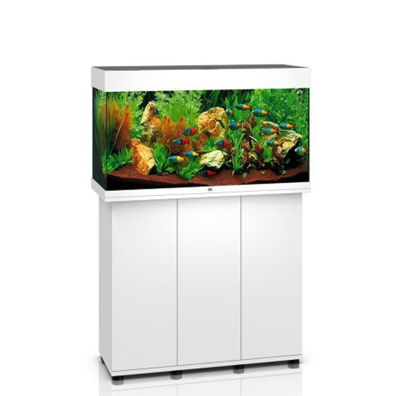juwel aquarium rio 180 blanc avec meuble avec portes poisson d 39 or sa. Black Bedroom Furniture Sets. Home Design Ideas
